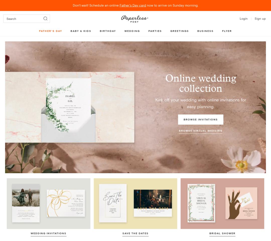 Cuatro de los mejores sitios para enviar sus invitaciones de boda en línea