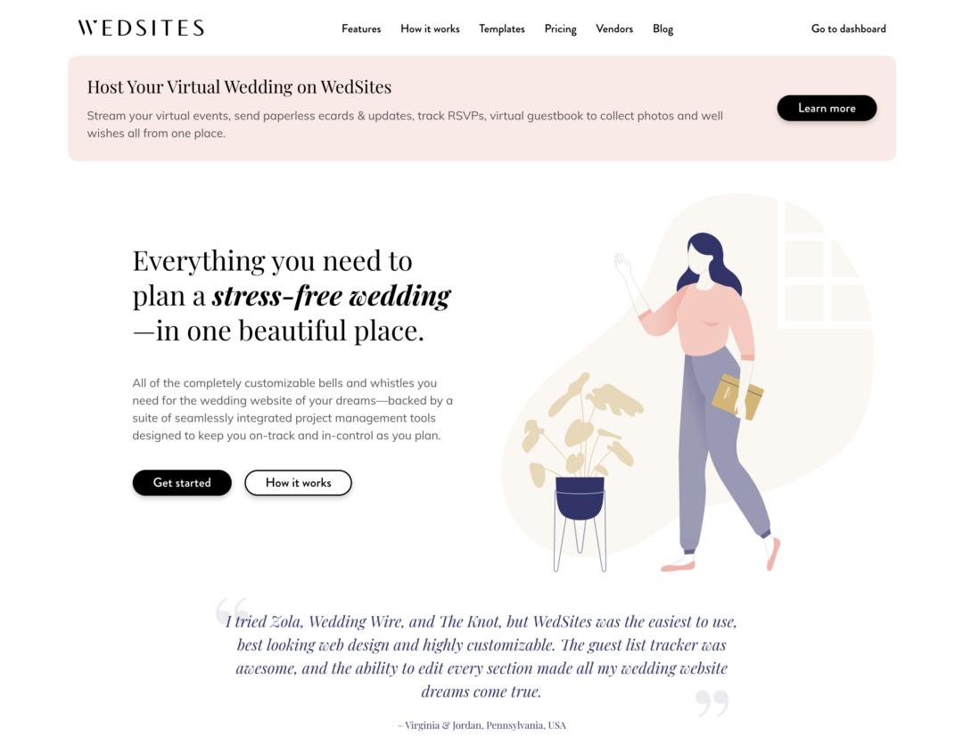 wedsites.com homepage